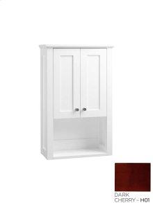 Shaker Bathroom Wall Cabinet in Dark Cherry