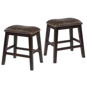 Hillsdale FurnitureSpencer Backless Non-swivel Counter Stool - Set of 2 - Dark Espresso (wirebrush)