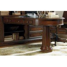 Home Office European Renaissance II Peninsula Desk Complete