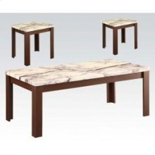 Faux Marble 3pc Pk Coffee/end