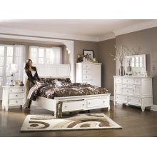 Prentice - White 3 Piece Bed Set (King) or Queen size available