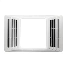 Heater/Fan/Light, White Plastic Grille, 70 CFM