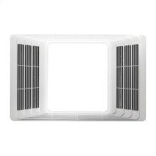 Heater/Fan/Light, White Plastic Grille, 70 CFM