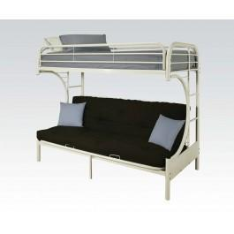"""White T/f/futon """"c"""" Bunkbed"""