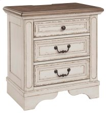 Three Drawer Night Stand Product Image
