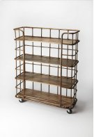 Display books and collectibles in this étagère. A handsome mix of metal and distressed Mango wood, we love its industrial modern character and 5-level shelves, perfect for spaces where closets and cabinets are in short supply and storage systems are key. Product Image