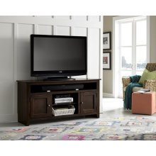 "58"" Dark Pine Entertainment Console - Pine, Dark Pine and Black Finish"