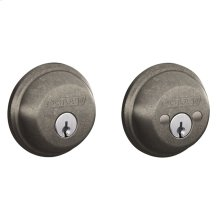 Double Cylinder Deadbolt - Distressed Nickel