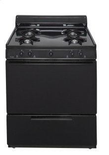 30 in. Freestanding Battery-Generated Spark Ignition Gas Range in Black