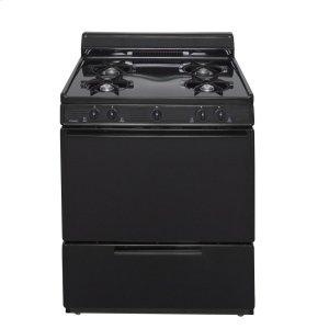 Premier30 in. Freestanding Battery-Generated Spark Ignition Gas Range in Black