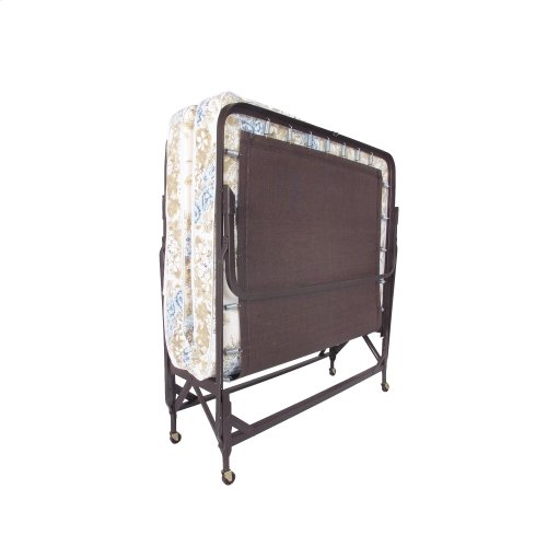 """Deluxe Rollaway Folding Poly Deck Cot 1220P with Angle Steel Frame and 30"""" Foam Mattress, 29"""" x 75"""""""