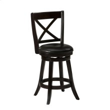 Aaron 'x' Back Swivel Stool With Upholstered Seat