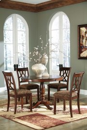 Leahlyn - Medium Brown Round Dining Table and 4 Chairs Product Image
