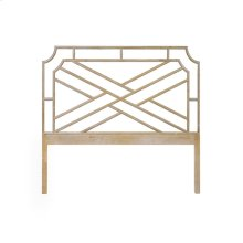 Chippendale Style Queen Bamboo Headboard In Cerused Oak