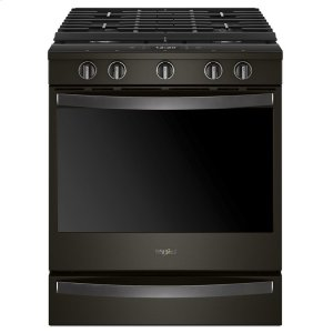 5.8 cu. ft. Smart Slide-in Gas Range with EZ-2-Lift Hinged Cast-Iron Grates - FINGERPRINT RESISTANT BLACK STAINLESS