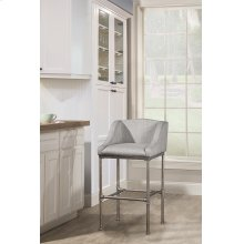 Dillon Stationary Counter Height Stool -textured Silver