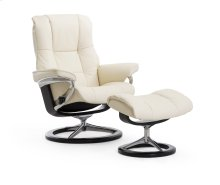 Stressless Mayfair Medium Signature Base Chair and Ottoman