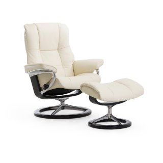 Stressless Mayfair Small Signature Base Chair and Ottoman