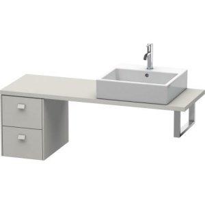Brioso Low Cabinet For Console Compact, Concrete Gray Matt Decor