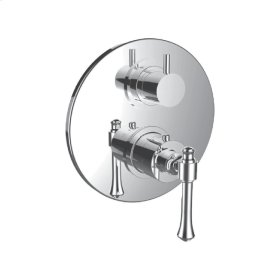 """1/2"""" Thermostatic Valve With Volume Control and 3-way Diverter in Bright Pewter"""