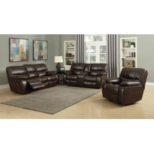 Banner Brown Leather Gel Reclining Sofa