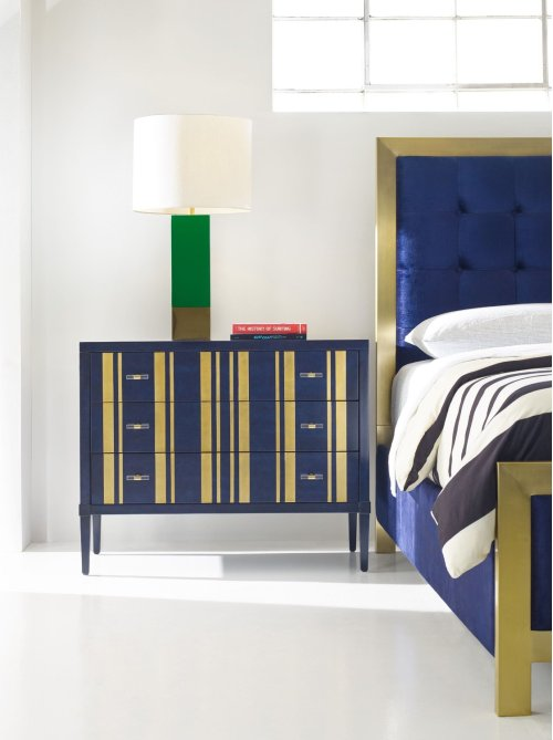 Bedroom Parker Striped Bachelors Chest
