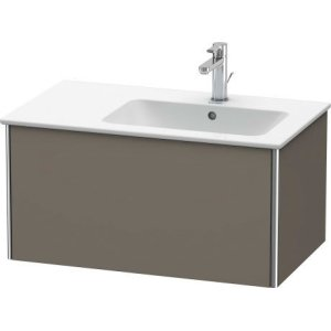 Vanity Unit Wall-mounted, Flannel Grey Satin Matt Lacquer
