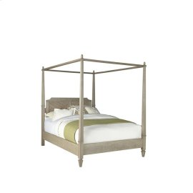 6/6 King Canopy Bed - Flax Finish