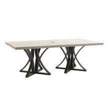 Dining Table W/Weatherstone To