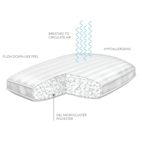 Sleep Plush + GelSoft Plush Soft Density Fiber Pillow, Standard / Queen