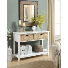 WHITE CONSOLE TABLE