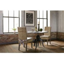 Rhea Industrial Black Dining Table
