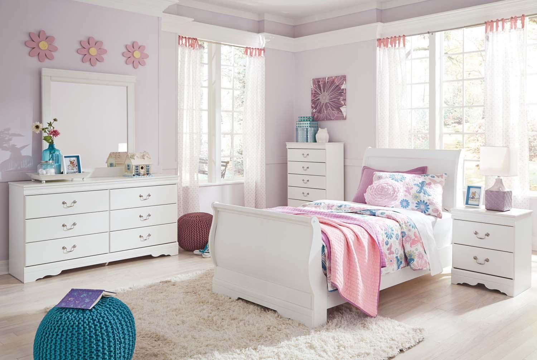 Anarasia   White 3 Piece Bed Set (Twin)