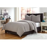 3 pc Queen Coverlet/Duvet Set Gray Product Image