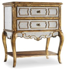 Bedroom Sanctuary Mirrored Leg Nightstand-Bling