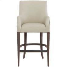 Keeley Leather Bar Stool in Cocoa