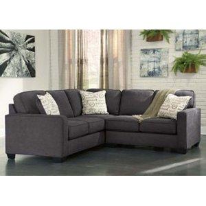 Ashley Furniture Alenya - Charcoal 2 Piece Sectional