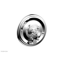 HEX TRADITIONAL Pressure Balance Shower Plate with Diverter and Handle Trim Set 4-095 - Polished Chrome