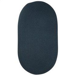 Heathered Pinwheel Navy Blue Solid Braided Rugs (Custom)