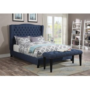 FAYE BLUE QUEEN BED