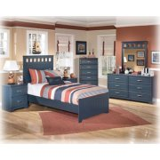 Twin Bed, Nightstand, Dresser, Mirror, and Chest with Drawers Product Image