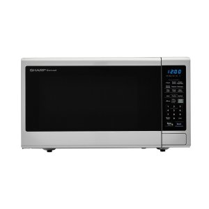 1.4 cu. ft. 1000W Sharp Black Carousel Countertop Microwave Oven -