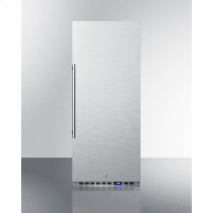 10.1 CU.FT. Commercial All-refrigerator With Stainless Steel Interior and Exterior, Digital Thermostat, Lock, and Automatic Defrost Operation -
