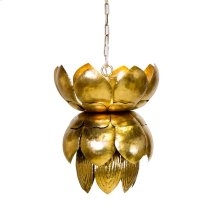 Metal Gold Leaf Pendant With Leaves