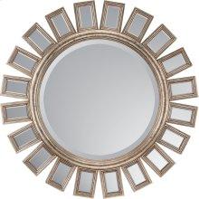 Round Metro Silver Mirror