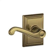 Flair Lever with Addison trim Hall & Closet Lock - Antique Brass