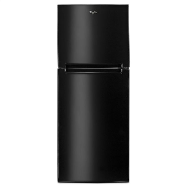 Whirlpool 25-inch Wide Top Freezer Refrigerator - 11 cu. ft. Black