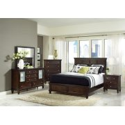 Transitional Cappuccino Queen Four-piece Bedroom Set Product Image