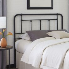 Baldwin Metal Headboard with Detailed Castings, Textured Black Finish, Twin