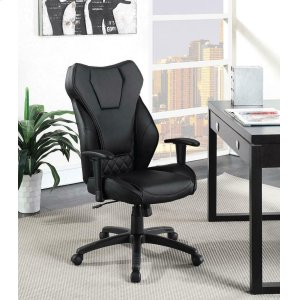 CoasterContemporary Black High-back Office Chair